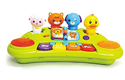 GoAppuGo Musical Toy Piano With 4 Removable Animal Sounds Toys