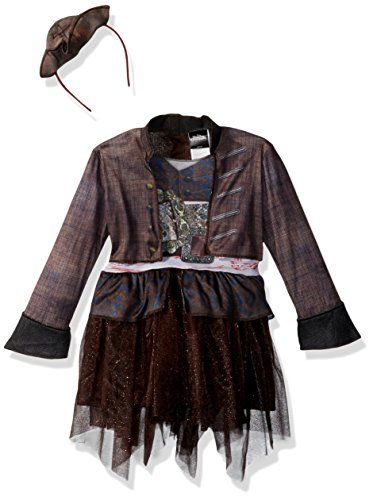 Disney POTC5 Captain Jack Sparrow Inspired Tutu Classic Toddler Costume,  Multicolor,  Small (2T)