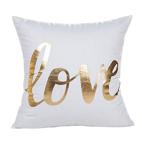 KASAAS Gold Foil Print Decorative Pillowcases Pillowcover Throw Pillow Cushion Home Decor Covercases(One Size,G)
