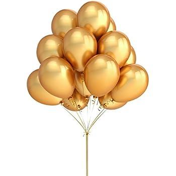 "Amazon.com: Fun Express 11"" Gold Metallic Balloons (2"