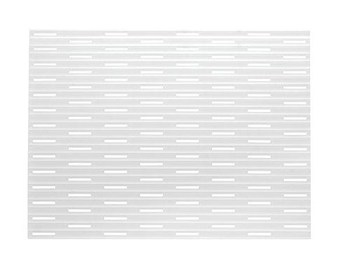 mDesign Tappetino Lavello Antigraffio in Silicone - Tappetino scolapiatti per lavandino - Sistema antiurto per stoviglie - 40.6cm x 31.75cm MetroDecor