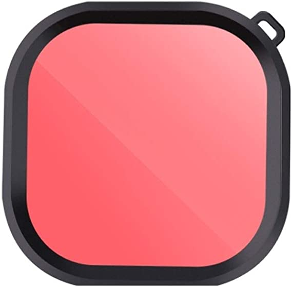 Color : Pink JINGZ Square Housing Diving Color Lens Filter for GoPro HERO8 Black Durable
