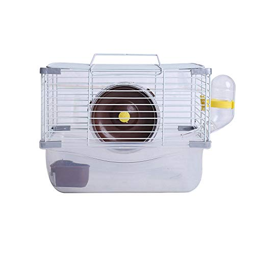 Hamster Cage kit, Hamster and Gerbil Pet Cage Habitat for Small Animal with Accessories with Hamster Wheel, Water Bottle and Hideout