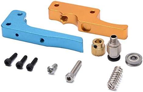 Iycorish Impresora 3D Oro Azul Mk8 Bowden Extrusor Directo Kit de ...
