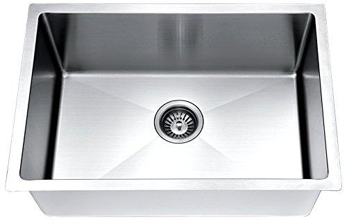 Daweier ESR240900 Hand Made Stainless Steel Undermount Small Radius Single Bowl Sink