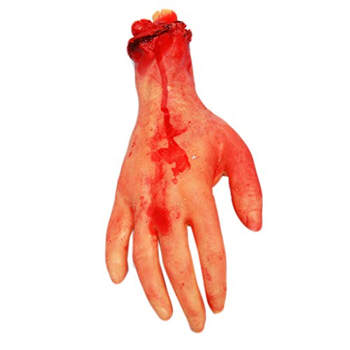Severed Hand Leg Broken Rubber Toy Fake Human Parts Halloween Haunted House Party Props (F) ()