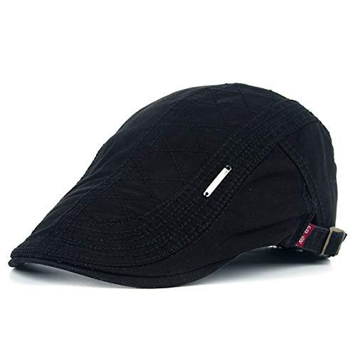 de de Color para Sombreros de Sombrero Casual de hat qin C E Gorra Vintage Hombres Malla Gorro GLLH Sombrero Pintor Sombra Boina de Liso de wH0q8wf