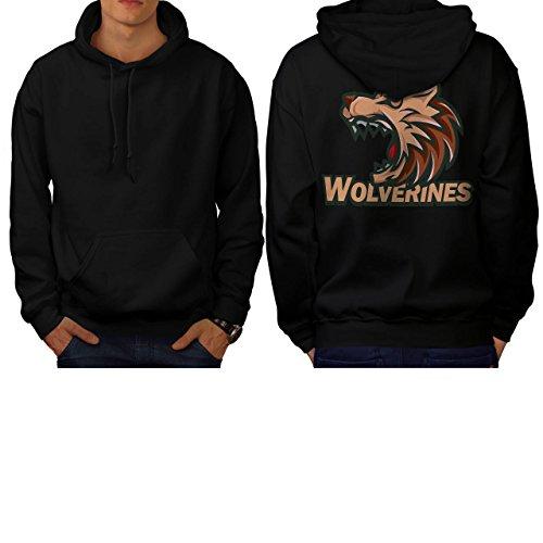 Wolverine Sport Team Basketball Men S Hoodie Back | Wellcoda (Evil Bunny Costume)