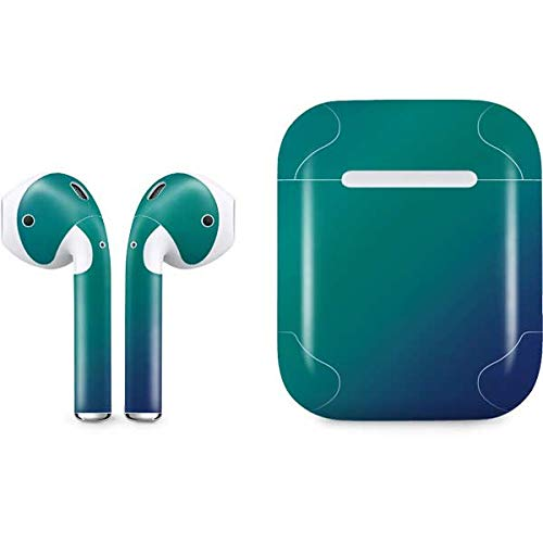 - Skinit Aqua Blue Chameleon Apple AirPods Skin - Officially Licensed Skinit Originally Designed Audio Sticker - Thin, Case Decal Protective Wrap for Apple AirPods Gen 1