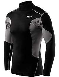 Men's TCA SuperThermal Compression Shirt Thermal Long Sleeve Base Layer Top Mock Neck