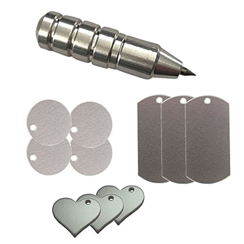 Silhouette Precision Etching/Engraving Tool by Chomas Creations and Stamping Blanks: Round