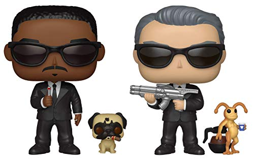 Mens Black Figure - Funko Pop! - Men in Black - Agent J & Frank and Agent K & Neeble - Bundle of 2