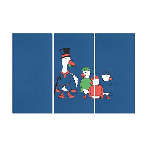 - YUMOING 3 Panel Canvas Wall Art Minimalistic Ducks Funny Scroo 8500x5500 Wallpaper Wall Art Canvas Prints Wall Decor for Home Living Room Bedroom Bathroom Wall Decor Posters 15