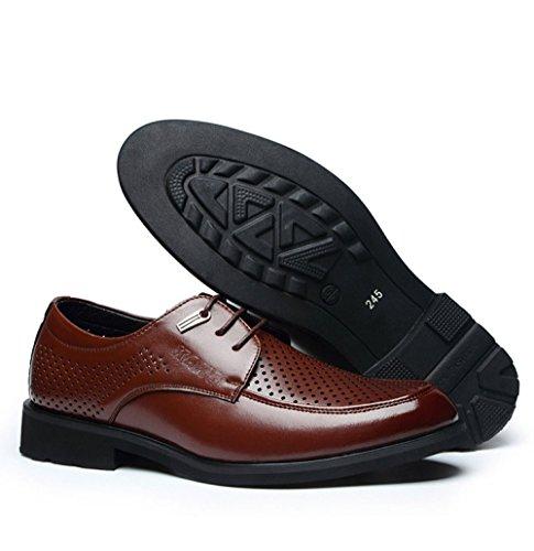 Cuir Brown Chaussures Chaussures Chaussures à en Hommes D'affaires LEDLFIE Cuir Découpes Formelles pour en Conseils Lacets aURq7wPZ