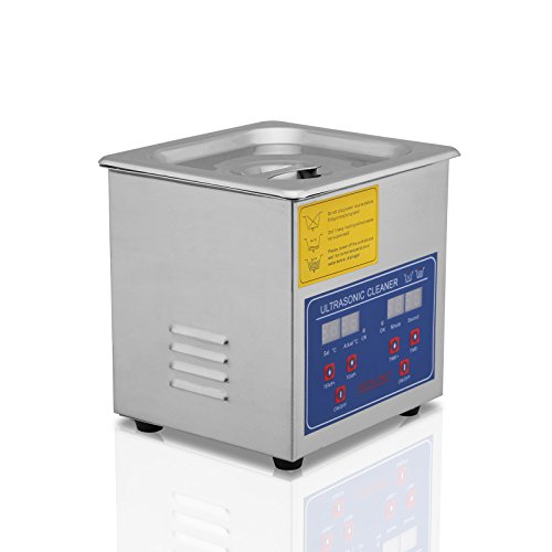 FoodKing Ultrasonic Cleaner Ultrasonic Cleaner Jewelry Ultrasonic Jewelry Eyeglass Commercial Industrial with Digital Heater Timer (1.3 Liter) by FoodKing (Image #2)