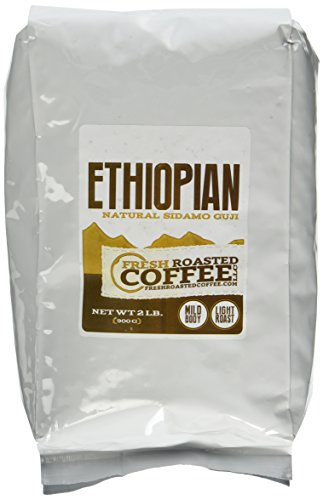 Ethiopian Sidamo Guji Natural Coffee, Whole Bean, Fresh Roasted Coffee LLC (2 lb.)