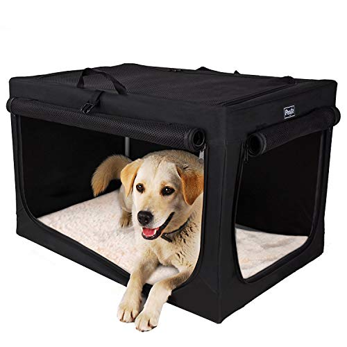 (Petsfit Indoor/Outdoor Soft Portable and Foldable Travel Pet Crate/Cage)