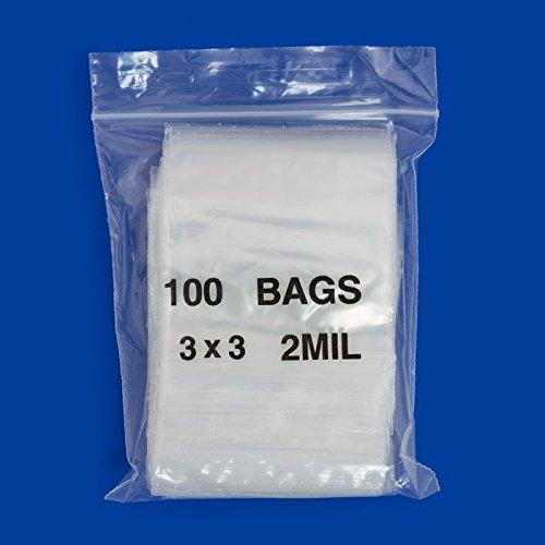 3030 Apple Mini Ziplock 100 Baggies Clear Color Colored 100 Bags 3