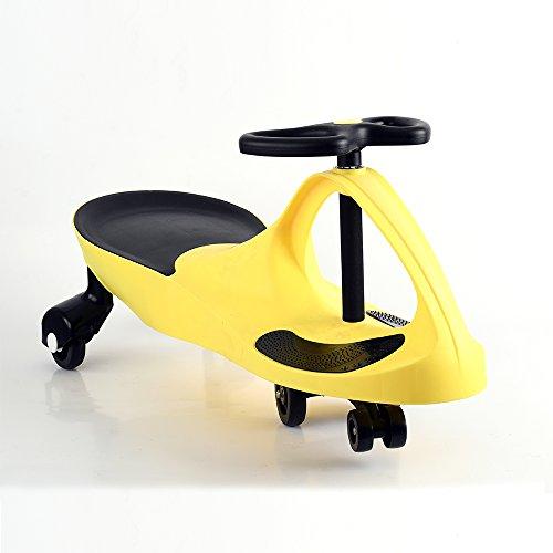 Gyro Swing - Apelila Wiggle Car Ride On Toy Twist Go Swivel Scooter Swing Gyro Car, for Kid Child (Yellow)