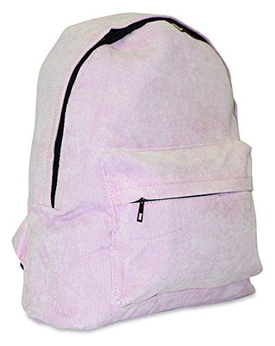 Corduroy School Backpack (Pink)