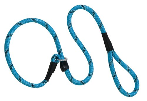 Weaver Leather Rope Slip Dog Lead, 1/2 X 6-Feet, Light Blue