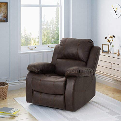 Christopher Knight Home 304389 Lilith Gliding Swivel Recliner, Dark Brown + -