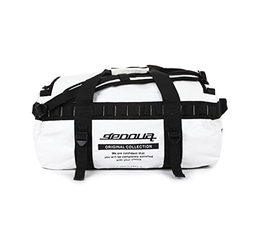 - GENOVA GE1180 | KOREAN STYLE Boston Bag Travel Tote Duffel Bag Carry on Bag Weekender Overnight Bag (White)