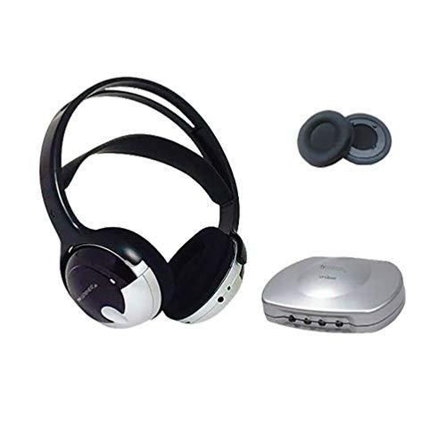 Bundle Tv Listener J3 Rechargeable Wireless Headset w/Extra Ear Pads ()