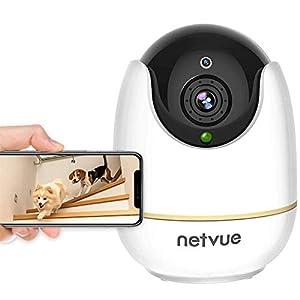 Netvue Indoor Camera, 1080P FHD 2.4GHz WiFi Pet Camera, Home Camera for Pet/Baby/Nanny, Dog Camera 2-Way Audio, Indoor…