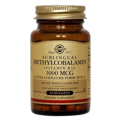Solgar Methylcobalamin vitamine B12 Nuggets, 1000 mcg, 60 comte