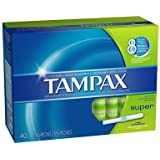 Tampax Tampons with Flushable Cardboard Applicator - Super - 40 ct