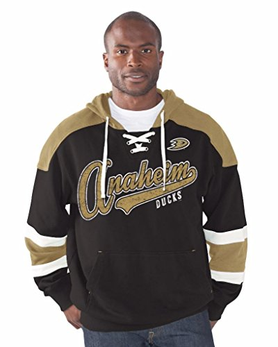 NHL G-III Men's Power Play Pullover French Terry Hoodie (Large, Anaheim Ducks) (Power Play Hockey Jersey)