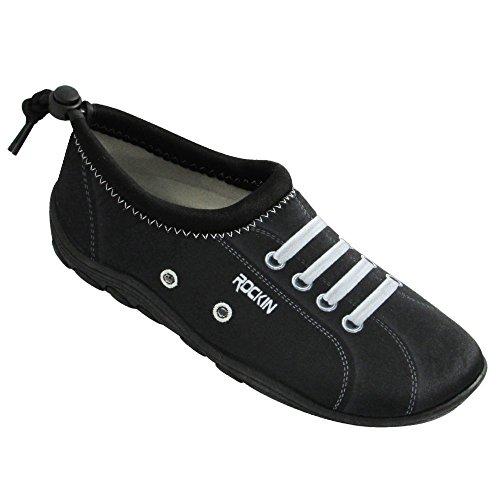 Scarpe Rockin Scarpe Da Donna Aqua Foot Sneaks Water Shoes Black