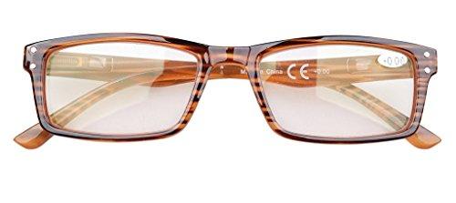 Striped Frame Blue Light Blocking Reduce Headache Computer Reading Glasses