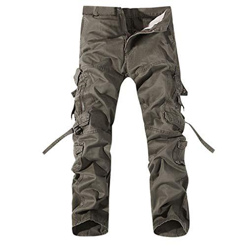Men's Tactical Pants Lightweight Cotton Outdoor Military Combat Cargo Trousers Gray (No Fear Combat Pants)