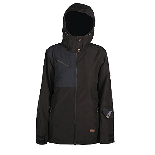 Ride Snowboard Outerwear Women's Cherry Jacket, Black/Black Melange, Medium