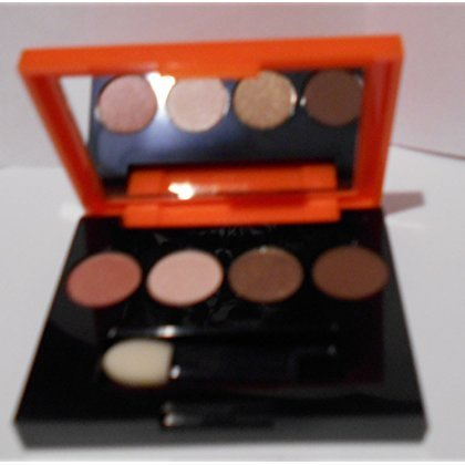 Estée Lauder Lisa Perry Pure Color Eyeshadow 4 Color Palette / 47-Nude Fresco, 10-Ivory Slipper, 35-Hot Cinnamon, 38-Chocolate Bliss (Estee Lauder Pure Color Eyeshadow Ivory Slipper)