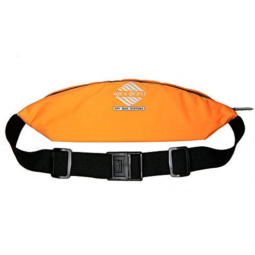 Aqua Quest Kona Running Belt - Water Resistant Zipper Pouch - Comfortable, Adjustable, Ultralight - Waist Pack for Phone, Money, Keys - Orange (Best Ultralight For The Money)