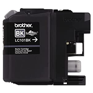 LC101BK, LC101BK Ink,300 Page-Yield, Black by BROTHER INTL. CORP.