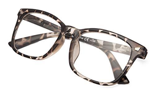 Fashion Ladies Redaers Stylish Reading Glasses Women Clear Lens Tortoise Frame ()