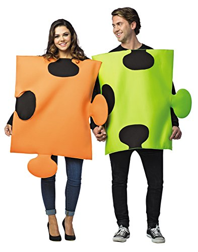 Couples Costumes For Halloween (Puzzle Pieces Adult Couples Costume Standard)