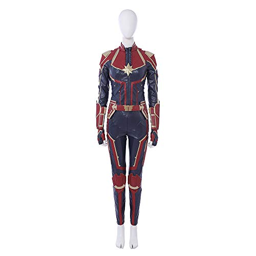 Captain Marvel Carol Danvers Cosplay Costume Leather Full Suit Custom Made -