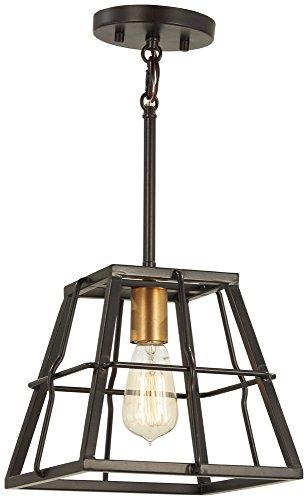 Minka Lavery Farmhouse Pendant Ceiling Lighting 4761-416 Keeley Calle, 1-Light 60 Watts, Painted Bronze