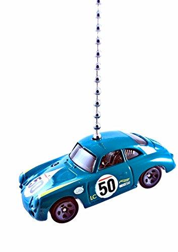 Hot Wheels Porsche Diecast Ceiling Fan Light Pull Ornaments 1/64 (Porsche 356A Outlaw - Teal Blue)