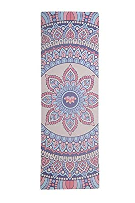 Amcomfy Yoga Mat,Luxurious Non-slip Yoga Mat,Grips More With Sweat,Gorgeous Microfiber Printed Designs – Beautiful and Durable Excersize Mat, Ideal for Bikram, Hot Yoga