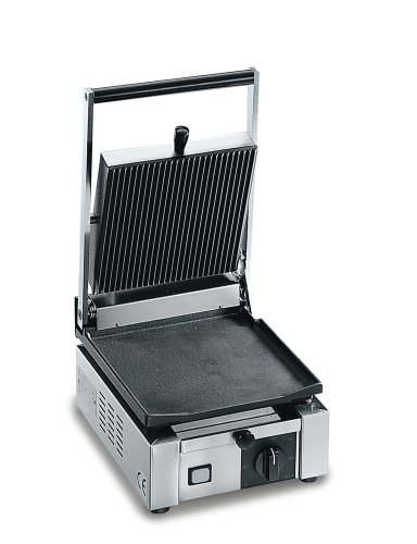 Sirman Small Commercial Panini Grill, Ribbed Top and Bottom ()