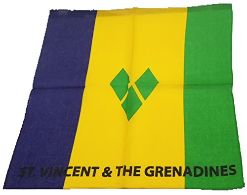 BUNFIREs ONE St Vincent And The Grenadines FLAG vincy Bandana Bandanna BIKER DURAG HEAD WRAP SCARF LARGE SIZE: 22 X 22