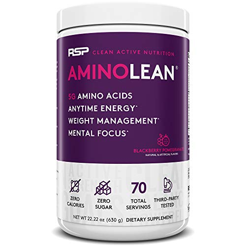 RSP AminoLean – All-in-One Pre Workout, Amino Energy, Weight Management Supplement with Amino Acids, Complete Preworkout…