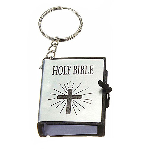 Bluelans Mini Key Chain Holy Bible Cross Pendant Religious Christian Keyring Decor Gift Valentine's Day/Mother's Day/Father's Day/Wedding/Anniversary/Party/Graduation/Christmas/Birthday Gifts