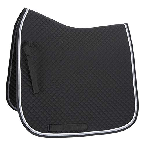 Shires Deluxe Dressage Pad Cob/Full Black/Gray